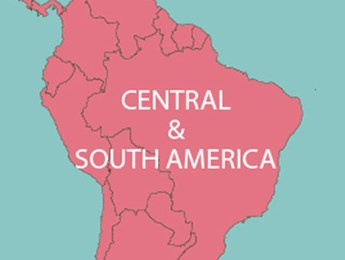 Map of CENTRAL & SOUTH AMERICA