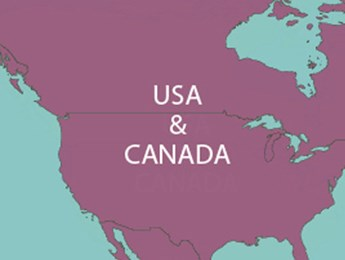 Map of USA & CANADA